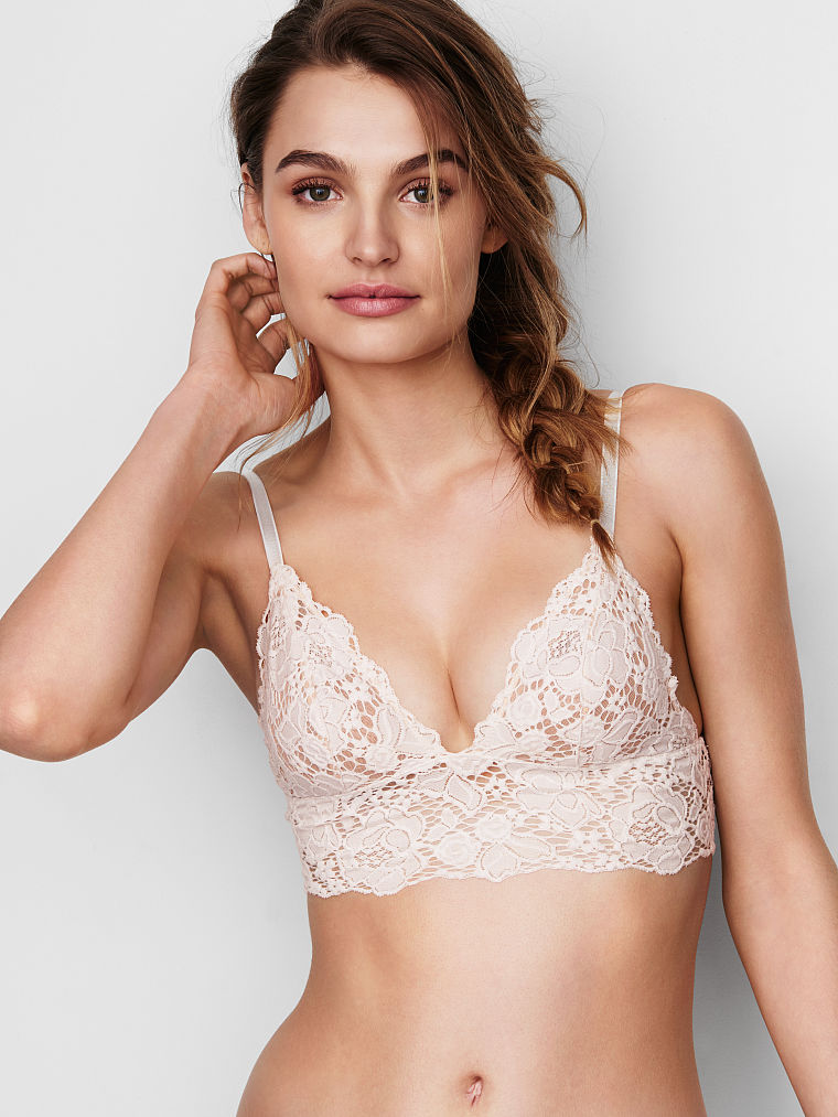Long Line Lace Bralette