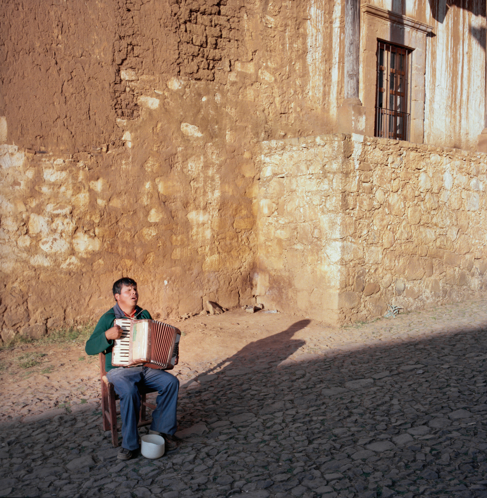 Accordion Player, Michoacán, México 1986