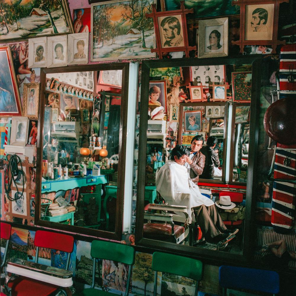 Barbershop, San Cristobal de las Casas, Chiapas, México 1985