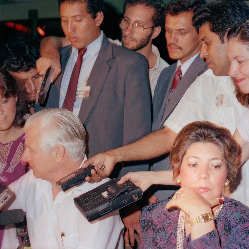 Press Conference, Esuipulas, Guatemala 1987