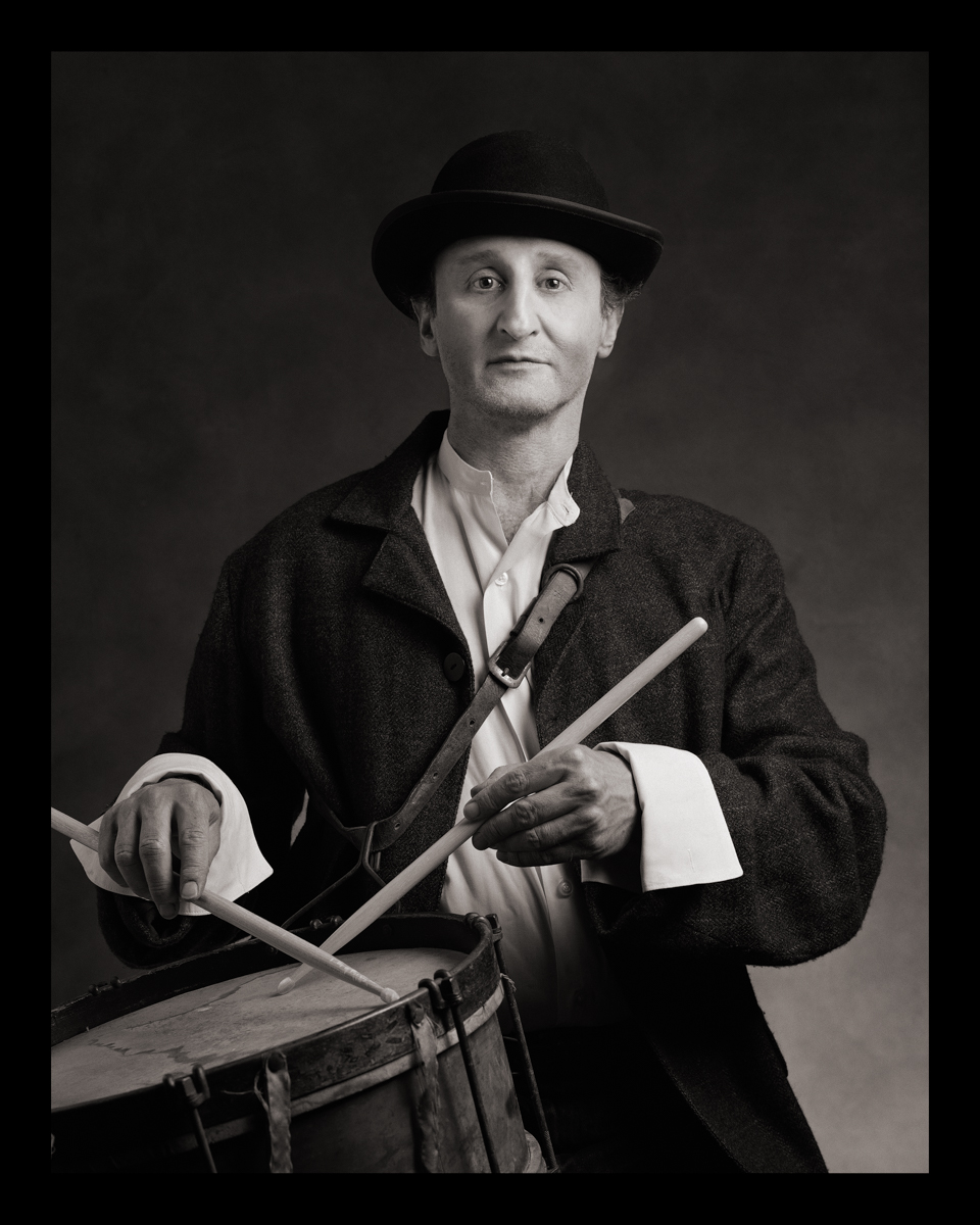 Self-Portrait as Wigdor Goldstein (Drum-The Goldstein Brothers Klezmer Band) b. Poland, 1900s d. Argentina, 1960s