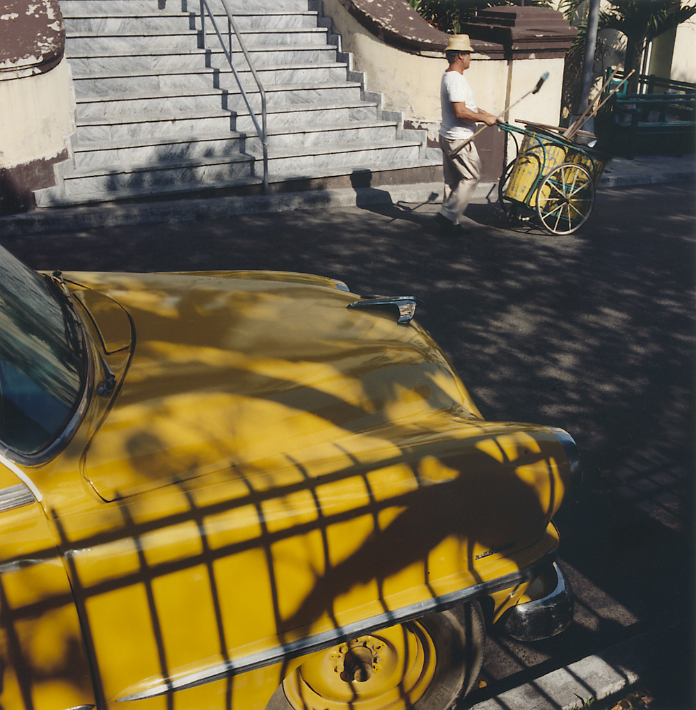 Street Sweeper and Yellow Car Havana, 1989