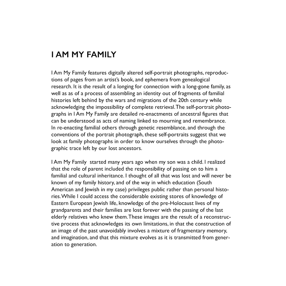 I Am My Family  Rafael Goldchain Artiststatjpg