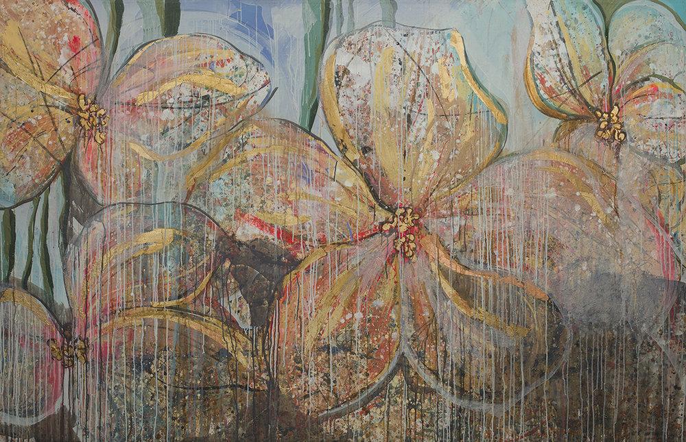 #41  2014 untitled  62″ x 96″ acrylic & gold-leaf on canvas