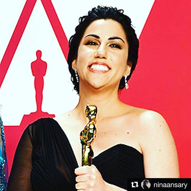 #Repost @ninaansary with @get_repost ・・・ Rayka Zehtabchi - First Iranian-American woman to win an Oscar for Best Documentary Short Film. #WomensHistoryMonth #Oscars2019 #periodendofsentence
