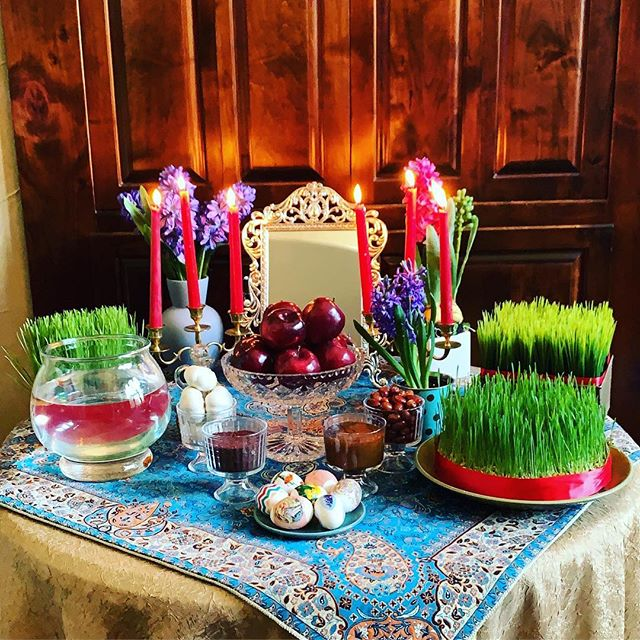 Happy Nowruz from me to all of you! So grateful I was able to make it home to spend it with my family! 💐🌳🍎🐠