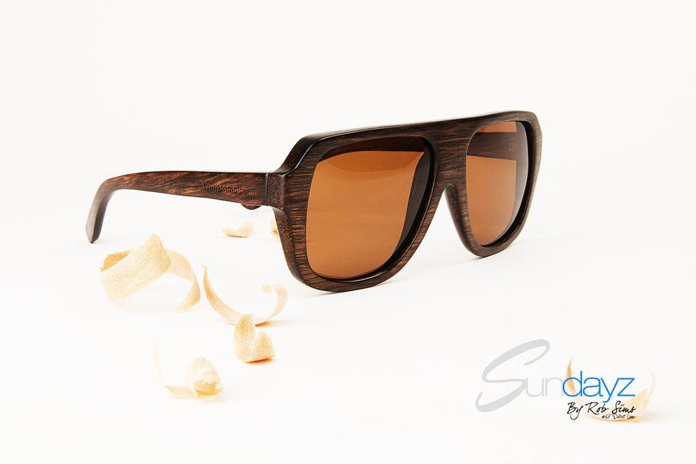 William Malcolm Luxe Collection Wood Sunglasses
