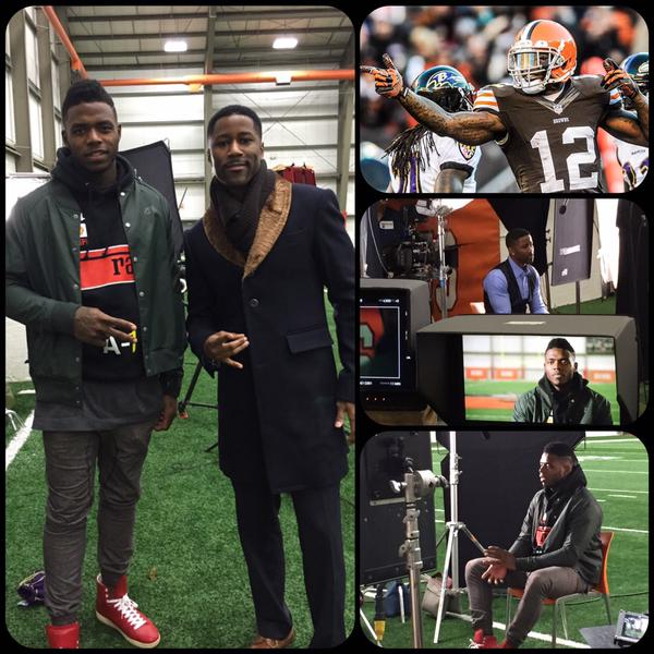 William Malcolm Luxe Collection Bespoke Overcoat Nate Burleson William Malcolm Josh Gordon William Malcolm Luxe Collection