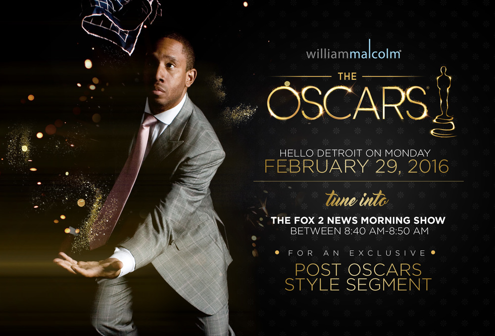 William Malcolm Luxe Collection and The 2016 Oscars. Fox 2 Morning Show