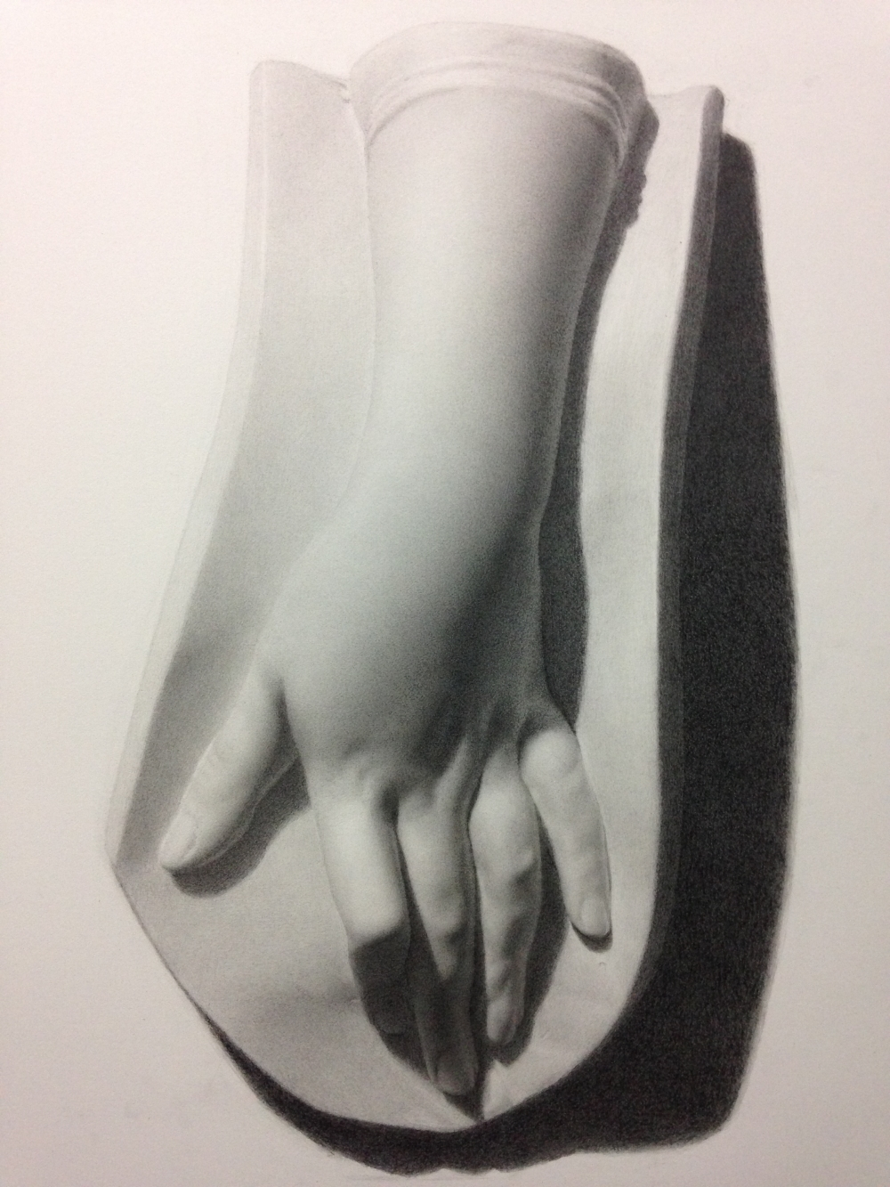 Female Hand - Cast Drawing