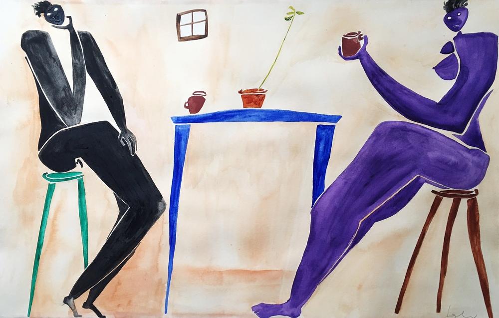 Tea 2016  Watercolor on Paper