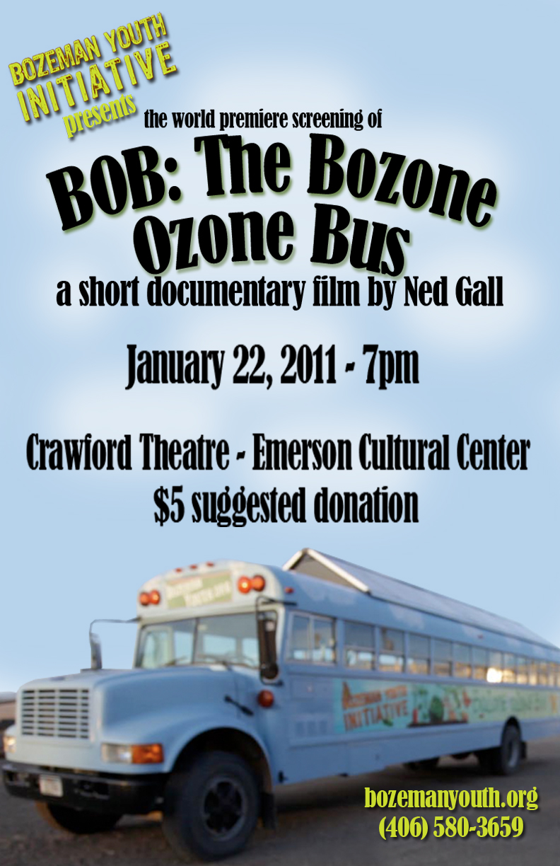Poster for the premiere screening of Ned Gall's BOB documentary.