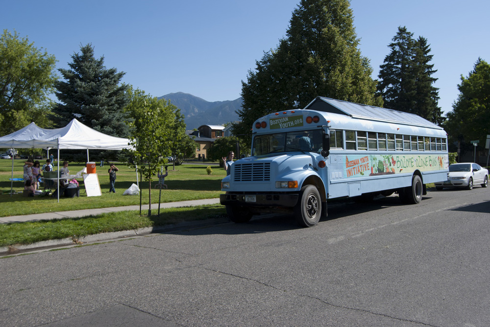 In 2011 Page Huyette and a team of young counselors and interns put together a free summer camp for kids in the free lunch program with the Gallatin Valley Food Bank. Activities included gardening exercises with the BOB bus, physical fitness, art and music.
