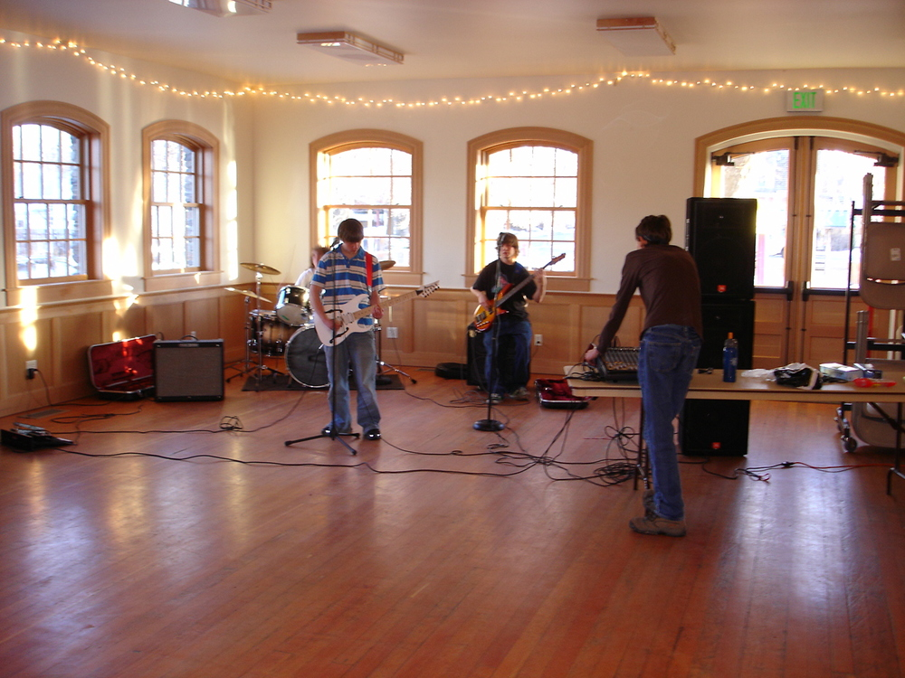 Atomics rehearsal, Beall Park Arts Center.