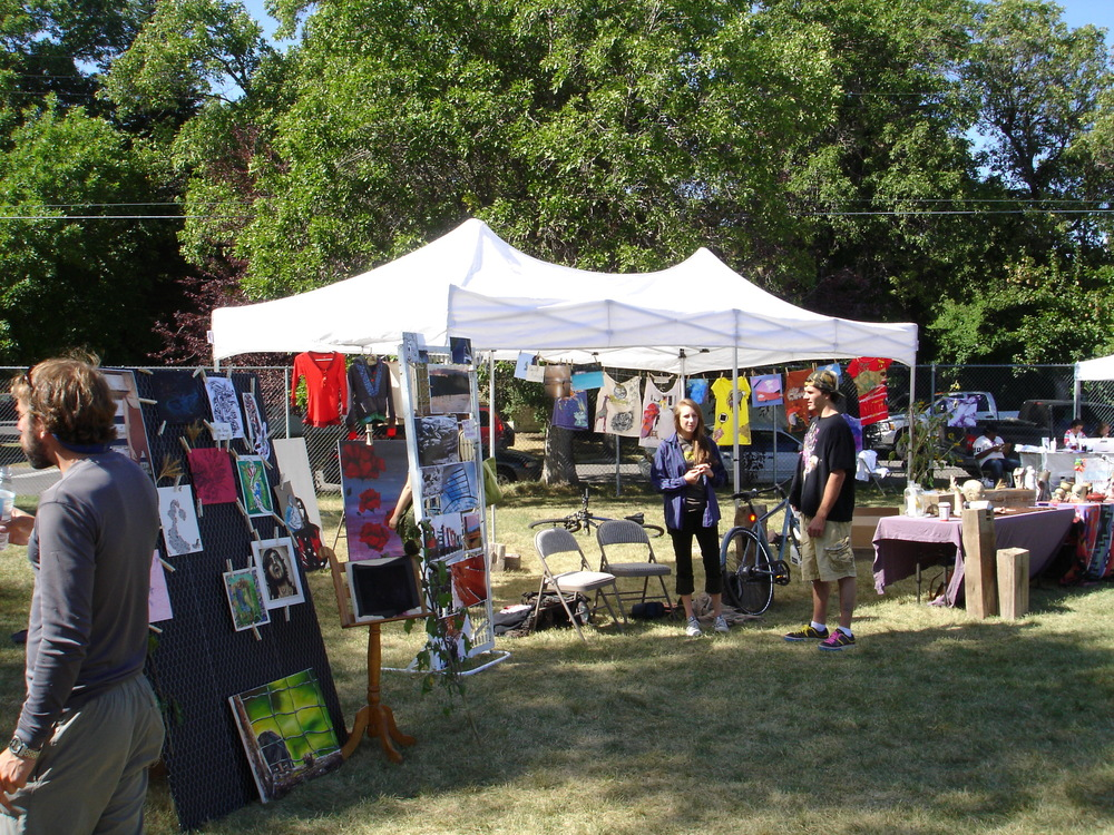 The student art show at Bozeman Youth Festival was the forerunner of our Art Walk Program.