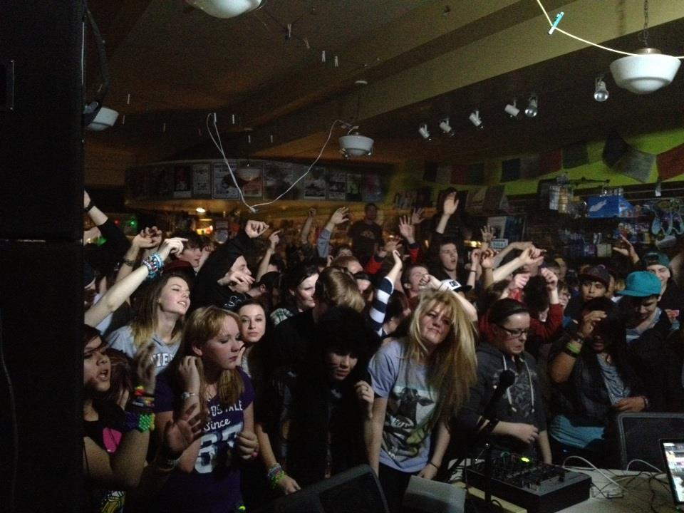 The BYI DJ BATTLE event - featuring young DJs competing for prizes & showcase slots with Chamberlin Productions, started and ran for two years at Cactus Records downtown, moving into the Baxter Ballroom in its third year as it grew in popularity.