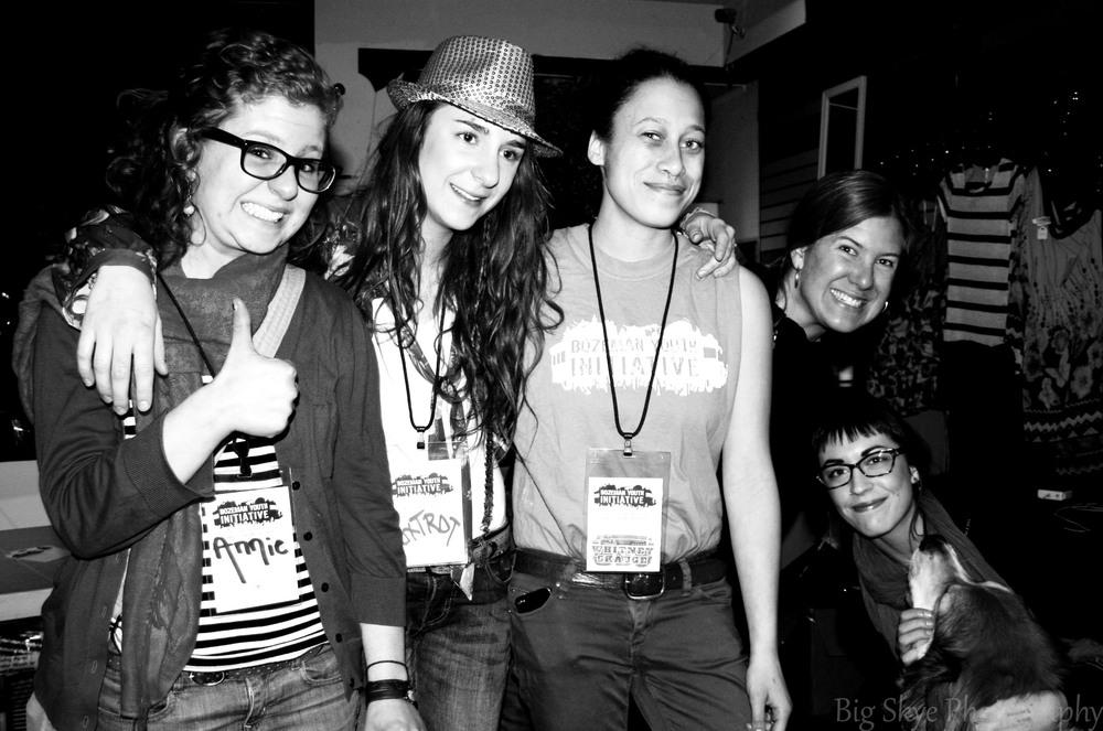 DJ Battle I. L>R Annie Josephs, Molly Titus-Ieronimo, Whitney Skauge, Program Director Lucia Stewart, Madi Nixon. Photo by Skye Norquist / Big Skye Photography.