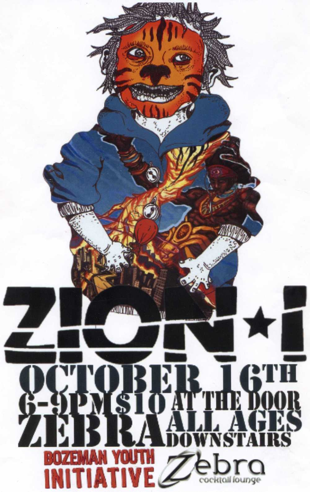 Kate's poster for the Zion I show.