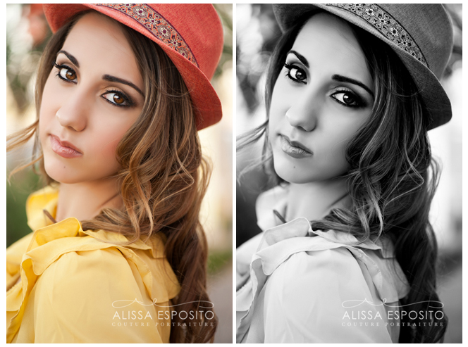 Asia's black and white as well as color head shot - Alissa Esposito Photogography