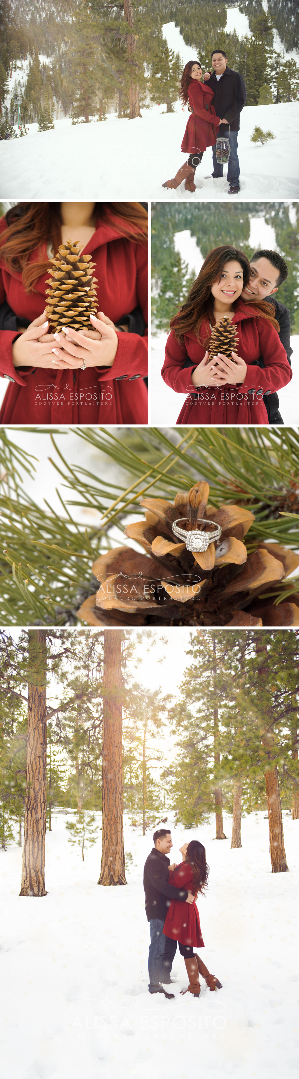 Alissa Esposito Photography Las Vegas Engagement and Wedding Photographer Mt. Charleston, Nevada Snow Winter Engagement Session |  www.alissaesposito.com