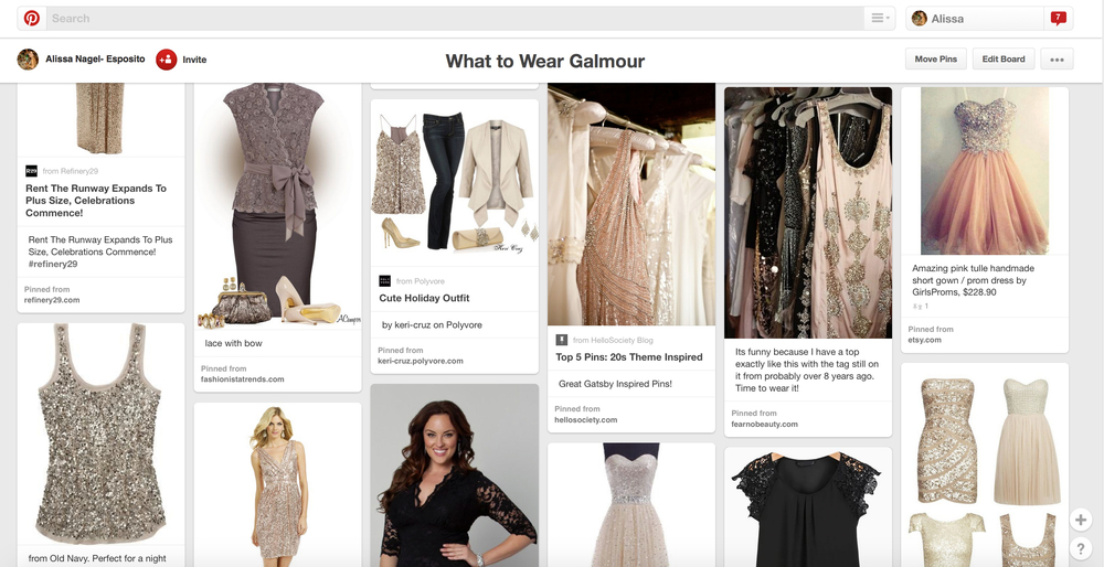 Pinterest What to Wear Board