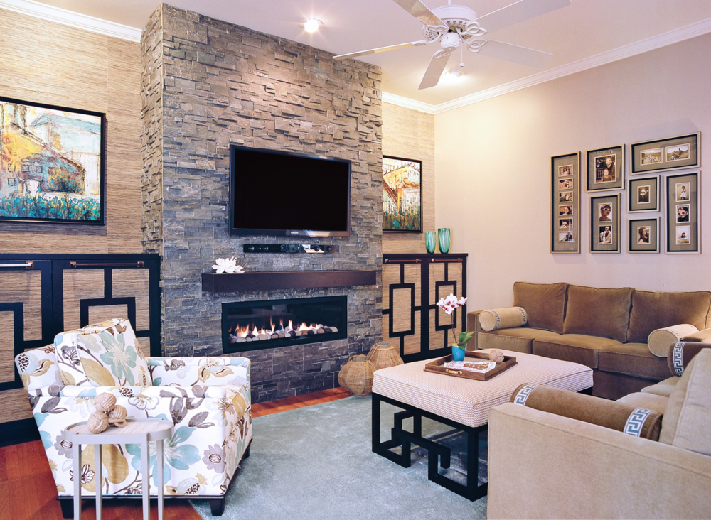 Modern Fireplace Interior Design North Carolina