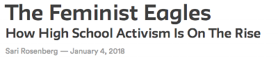 """My essay about high school activism for the Public Seminar x Past Present Vertical    Dr. Margaret Crocco cited this article in her  SOCIAL STUDIES JOURNAL article, """"Teaching Gender and Social Studies in the #MeToo Era"""""""