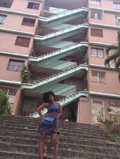 "Outside my ""home"" in Nuevo Vedado, Havana"