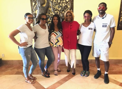 Amenkha and her team with Ms Patti LaBelle