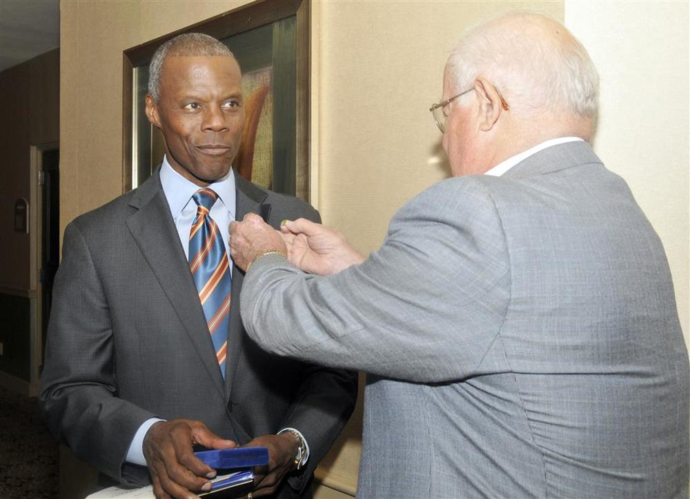 Former Congressman J.C. Watts receives Paul Harris Fellow.jpg