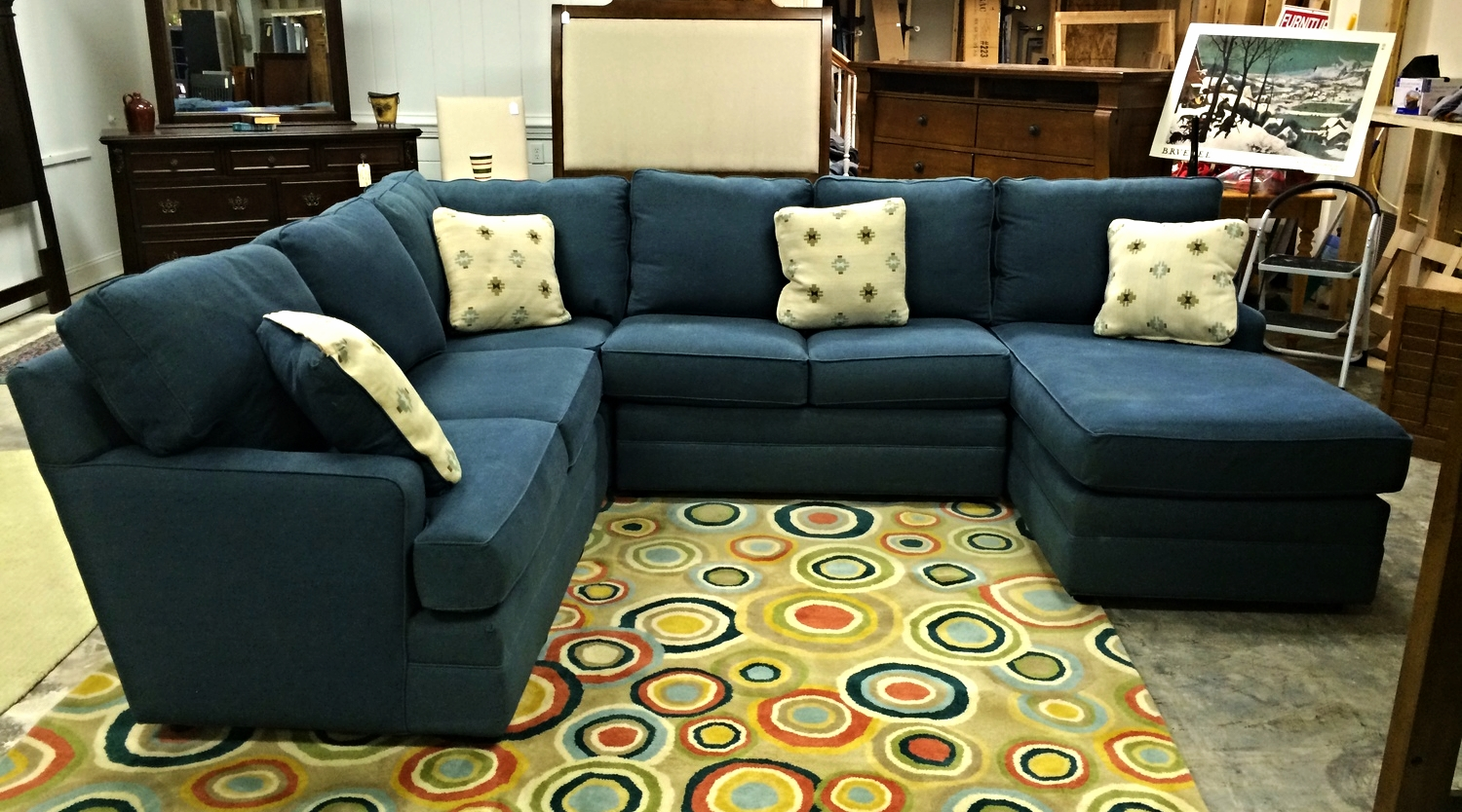 Merveilleux Thomasville Blue Denin Sectional Sofa