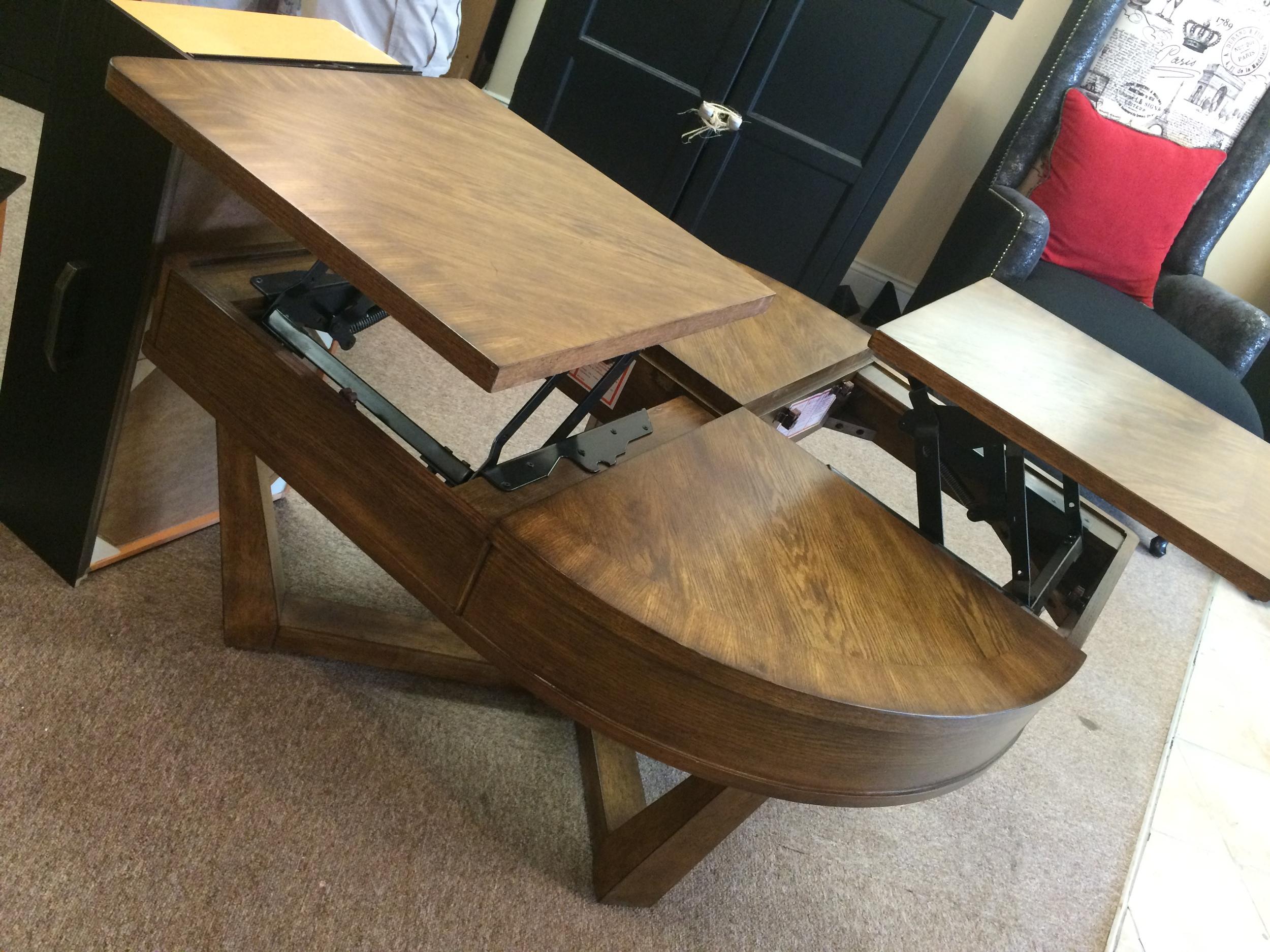 lane lora tear shape lift top coffee table