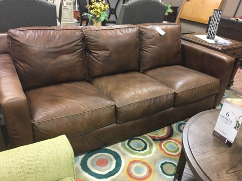 Thomasville Bryce Metro Leather Sofa