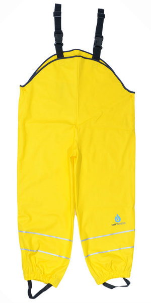 b0f4f0ad960a DK Yellow Fleece Lined PU Dungarees (with marks)