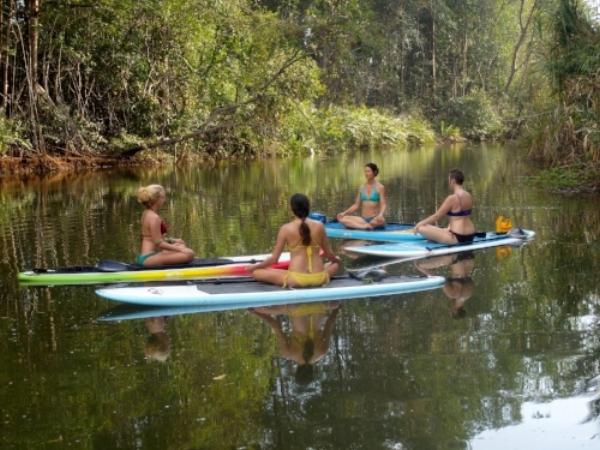 SUP Yoga = a 360 degree nature fix!