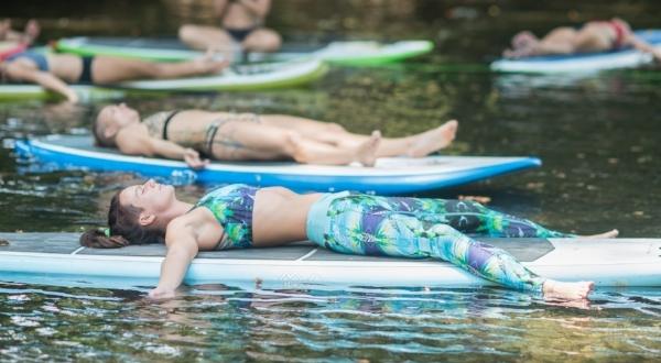 Take your Yoga to the water! FLOATING SAVASANA on the Rio Baru in Dominical, Costa Rica. Pure Heaven, Pura Vida!