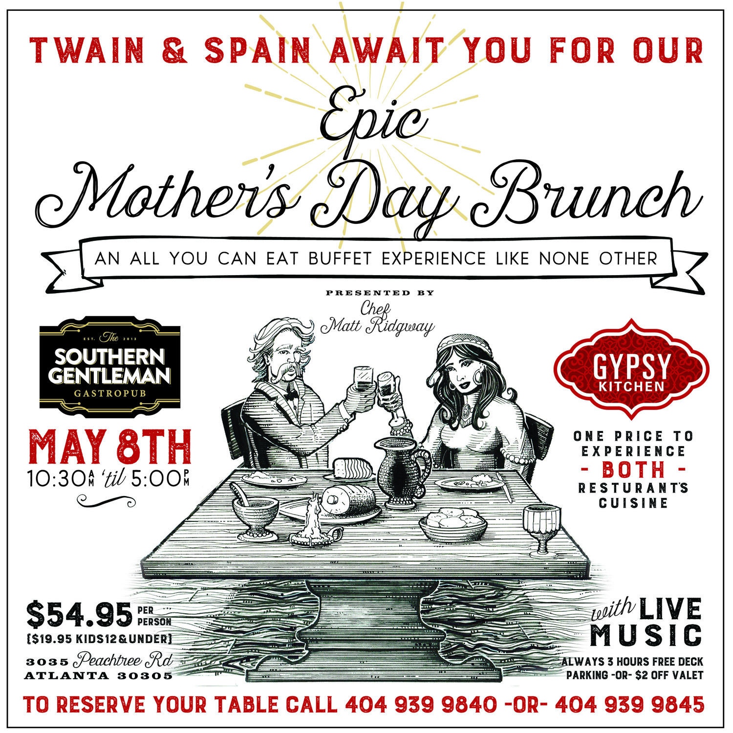 Mother\'s Day Brunch Buffet — Gypsy Kitchen