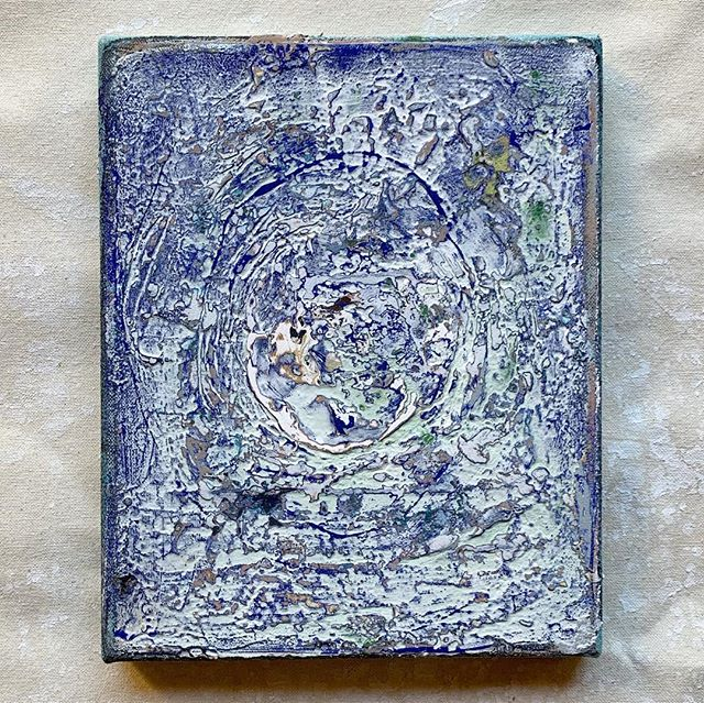 "little blue 8"" x 10"" 2018"