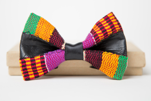 89546798834a The Kente x Stressed Leather. 49.99. 2C2A7846.jpg. The Neck Couture Bow Tie