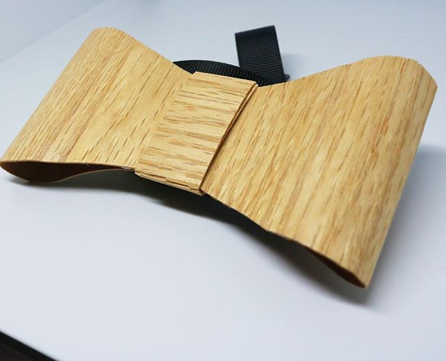 A custom wooden bow tie for he win!...