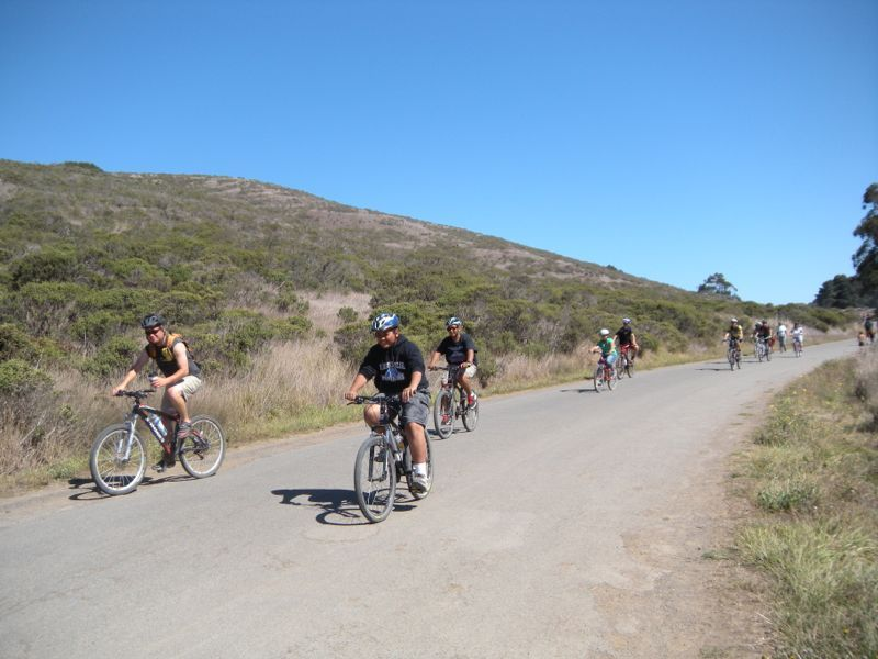 A previous biking trips for California kids and parents enjoy a beautiful day of riding at Tennessee Valley Trail