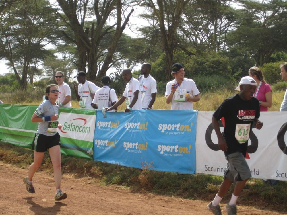 Like all other Endurance runners, Maggie (left) keeps up with international and Kenyan competitors at Safaricom Lewa Marathon in Kenya in June 2013
