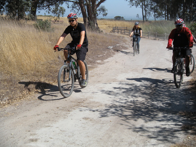 September 7, 2014 kids and parents bike at Point Pinole Regional Park