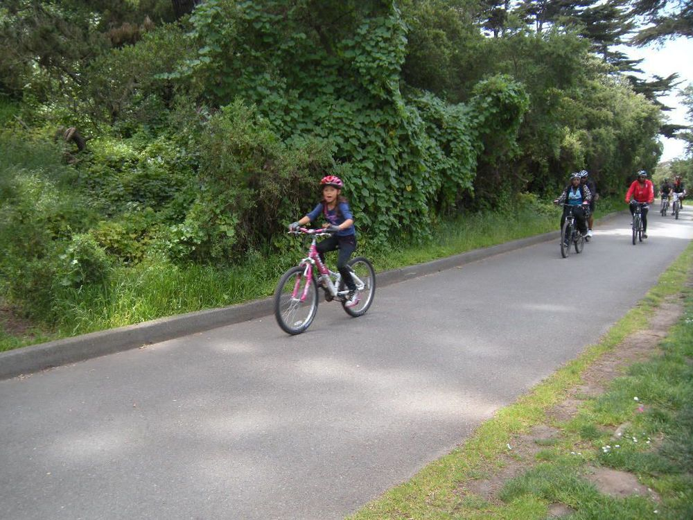 Last year's bike ride at San Francisco Golden Gate Park