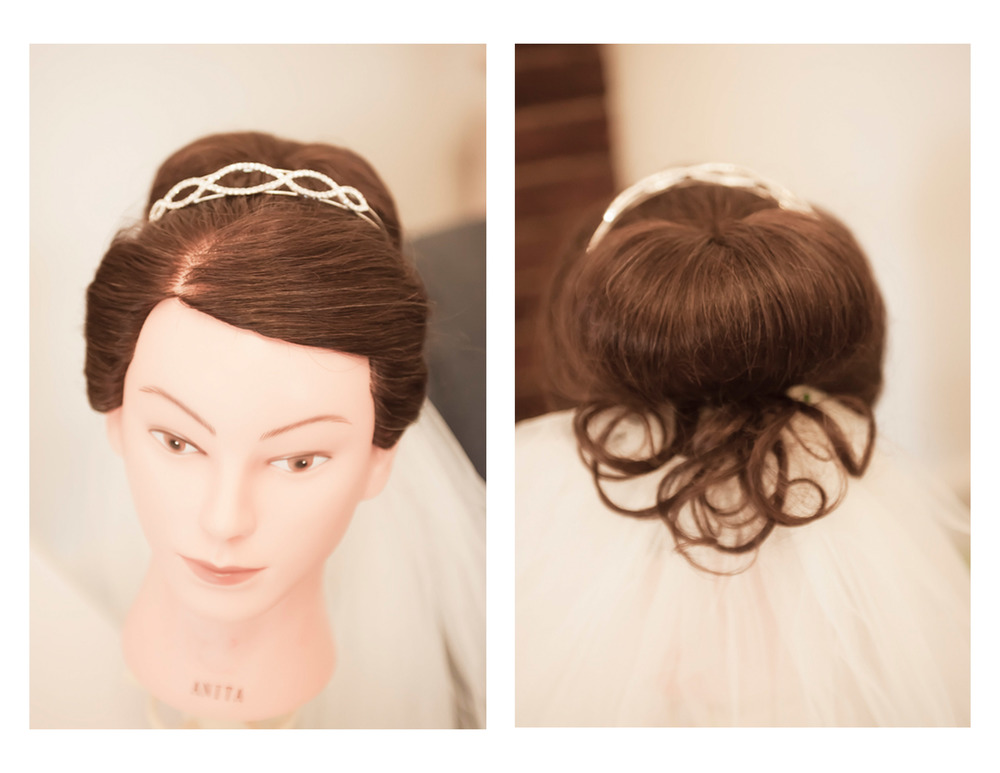 One of my early bridal upstyles.