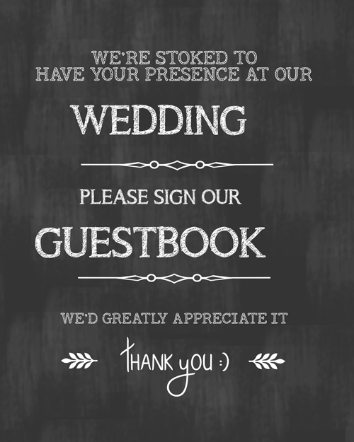 Our second Friday Freebie printable, I hope you use it, I LOVE looking over the guestbook from my wedding, 30 years later.