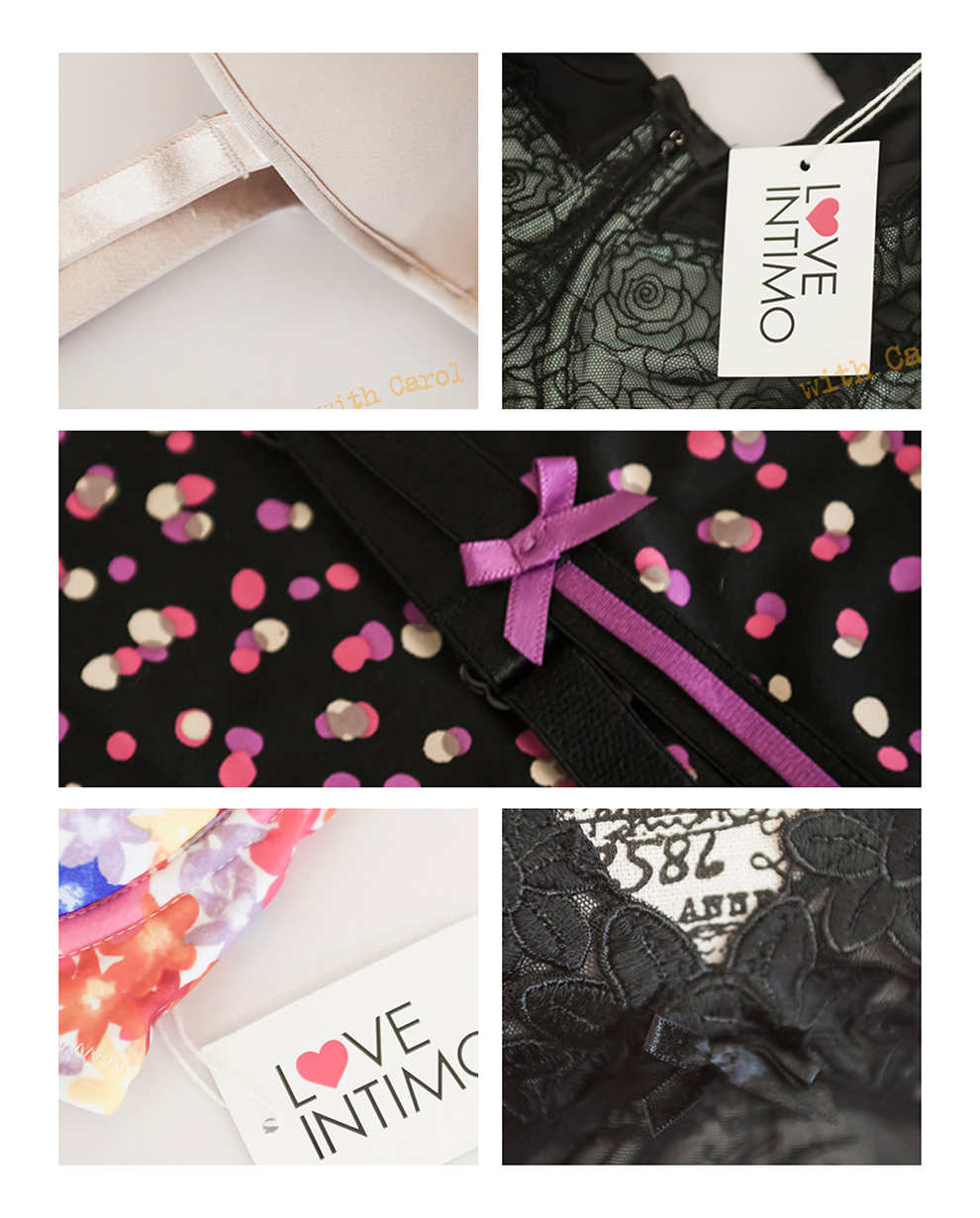 Details of the beautiful items in Taya's range.  I LOVE that she came to me with a whole range of products, so that I could see how committed she was to helping me find just the right bra.