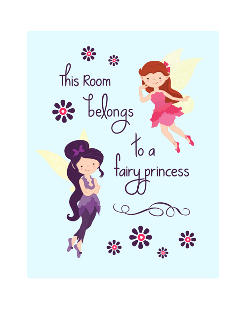 Aren't they just the cutest princesses?? Colours to go with any decor too!