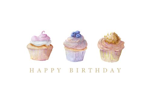 Free printable cupcake birthday card