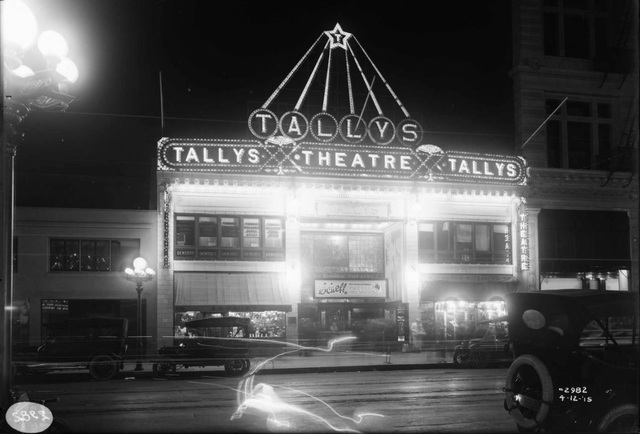 Tallys, the first electric theatre via cinematreasures.org